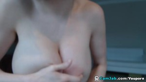 Busty Babe Masturbating with her Dildo