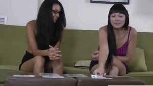 Two beautiful brunette's play a strip memory card game
