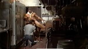 Kitchen Threeway from Vintage Gay Porn SEX LUNCH (1985)