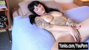 Tattooed Monte Rubbing Her Pussy