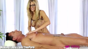 MilkingTable Blowjob Therapy and Sperm Eating