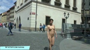 Antonia shows her amazing sexy body on public streets