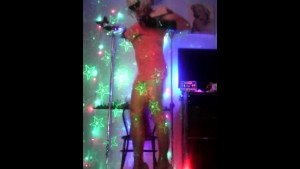 Spanish T-Girl dances seductively for you