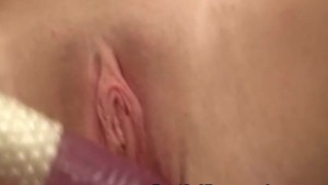 Homemade Chubby Babe Huge Dildo Pussy Fuck