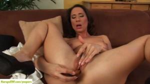 Pepper Ann Dildos Her Ass
