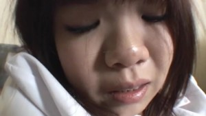 Sexy young Asian student in uniform gives herself orgasms with sex toy