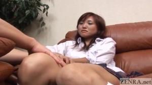 CFNM Japanese schoolgirl watches you masturbate Subtitles
