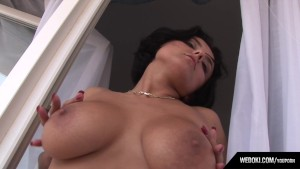 Extasi Busty Babe From Wedoki.com Masturbate On Balcony