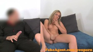 FakeAgent Horny babe can't wait for big dick in casting interview
