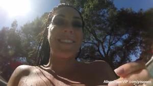 Alison Tyler masturbates in the pool
