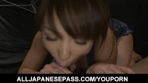 Nozomi Mitani with hot butt sucks and licks dong till gets cum