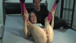 Teen girl fist fucked in her giant pussy