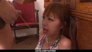 Serious blowbang series along nasty Anri Hoshizaki
