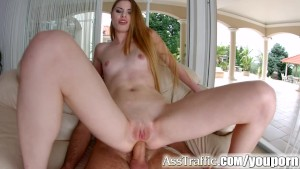 Asstraffic Milena Devi leggy brunette gets a dick in the ass for anal sex