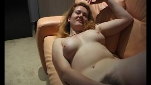 Blonde rubs her hairy pussy - Julia Reaves