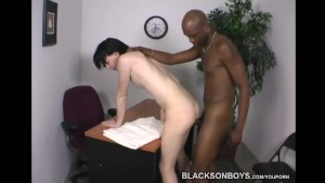 Skinny white emo guy gets fucked by a black man