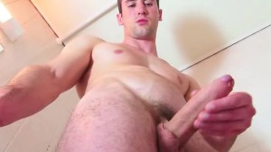 My str8 neighbour made a porn movie: watch his huge hard cock.