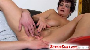 Pussy fingering close-ups of older woman Greta