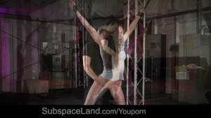 Russian brunette in bondage subject of lustful desires