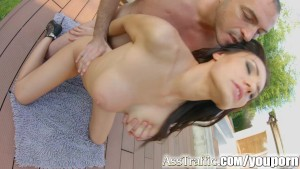 Asstraffic outdoor fucking for curvy Kitana