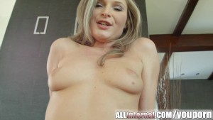 Allinternal Angel Snow is fucked hard and filled with cum