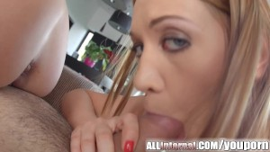 Allinternal threesome with gorgeous girls and lots of cum
