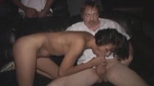 Petite Latina Bukkake in Porno Theater