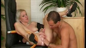 Blonde European MILF Anal Rough