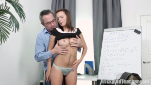 Nataly lets tricky old teacher play
