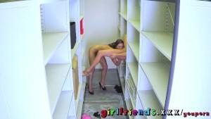 Girlfriends Secret lesbian sex at work
