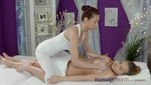 Massage Rooms Lesbians with big natural tits have sensual orgasmic fun