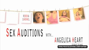 First Time Audition Tape with Beauty Rebeka Cardwell