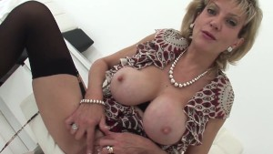 British Milf Lady Sonia home alone masturbation