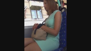 Creep shot and stalking of a gorgeous business woman in a short skirt