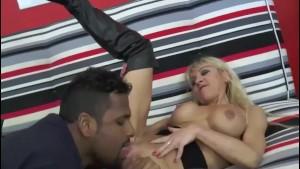 A pretty blonde milf France fucked a big black dick