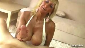 Granny And Stud Recording A Handjob And Tit-fuck
