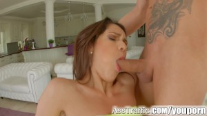 Asstraffic face fucking and anal sex threesome