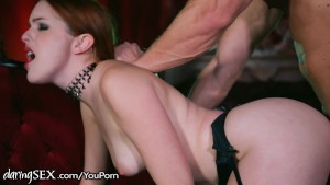 DaringSex Eager Redhead Fucked in Lingerie