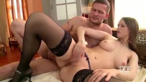 DDFnetwork - Absolute Slovakian goddess devours a Monster cock