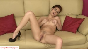 KarupsPC - Antonia Sainz Masturbates On Sofa