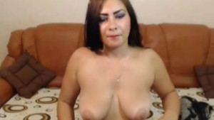 Voluptuous Latina Trans with Big Natural Tits Wanks Her Hard Cock