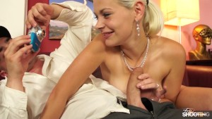 Gorgeous Blonde Amateur Fucks cock during Casting