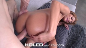 HOLED - Step sister Chloe Amour anal fucked by step brother