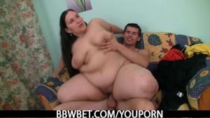 BBW rides big cock