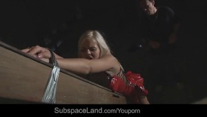 Perverse humiliation for sub slave fucked drilled with cum in bondage