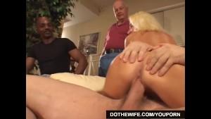 Blonde Housewife fucks porn stud