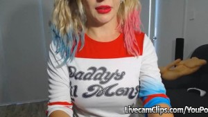 Harley Quinn Dressed Be Like Busty Blonde On Cam