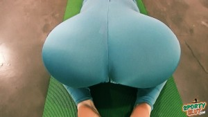 Bubble Butt Tiny Waist Teen Has Big Cameltoe In Lycra Bodysuit