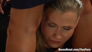 Mistress Teaching Blonde Slave Some Hard Lessons