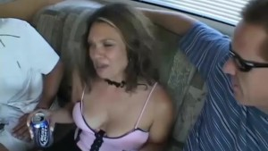 Milf picked up for bangvan orgy